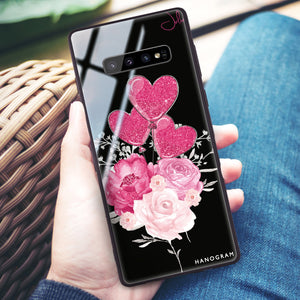 Sweet Heart With Rose Samsung S10 Plus Glass Case