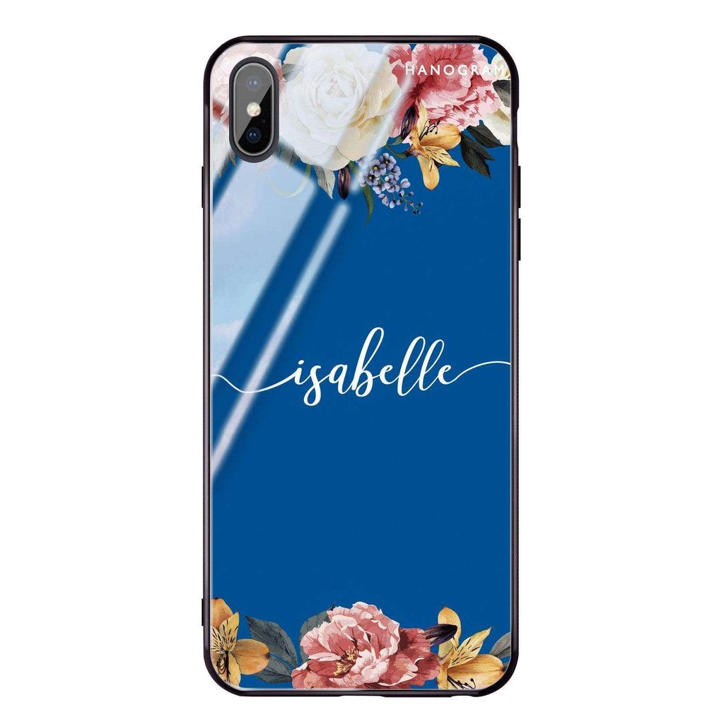 Art of Classic Floral Princess Blue Glass Case