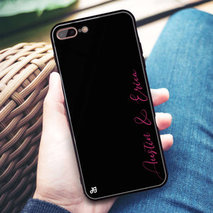 Handwritten You And Me iPhone 8 Plus Glass Case