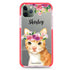 Floral and Cat Shockproof Bumper Case
