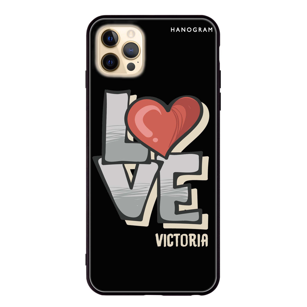 Cartoon Love Glass Case