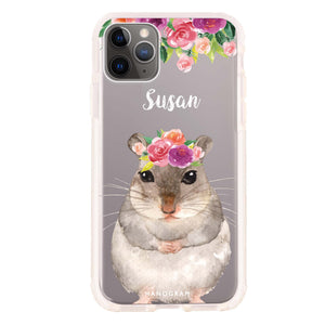 Floral and Hamster Frosted Bumper Case