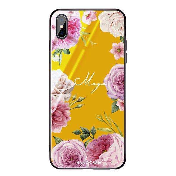 Beautiful Pretty Floral Mango Mojito Glass Case