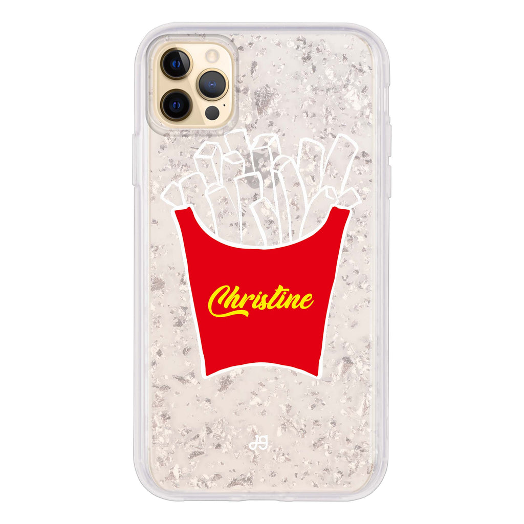 French Fries Glitter Case
