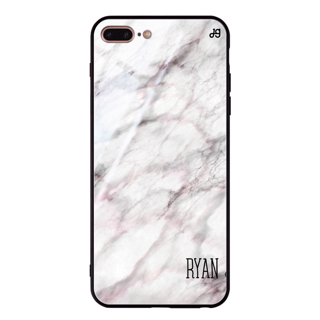 White Marble iPhone 7 Plus Glass Case