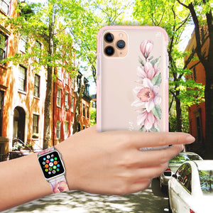Floral and Me - Frosted Bumper Case and Watch Band