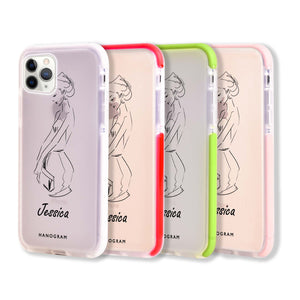Scribble Girl iPhone 11 Pro Max Frosted Bumper Case