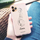 Scribble Girl Shockproof Bumper Case