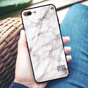White Marble iPhone 8 Plus Glass Case