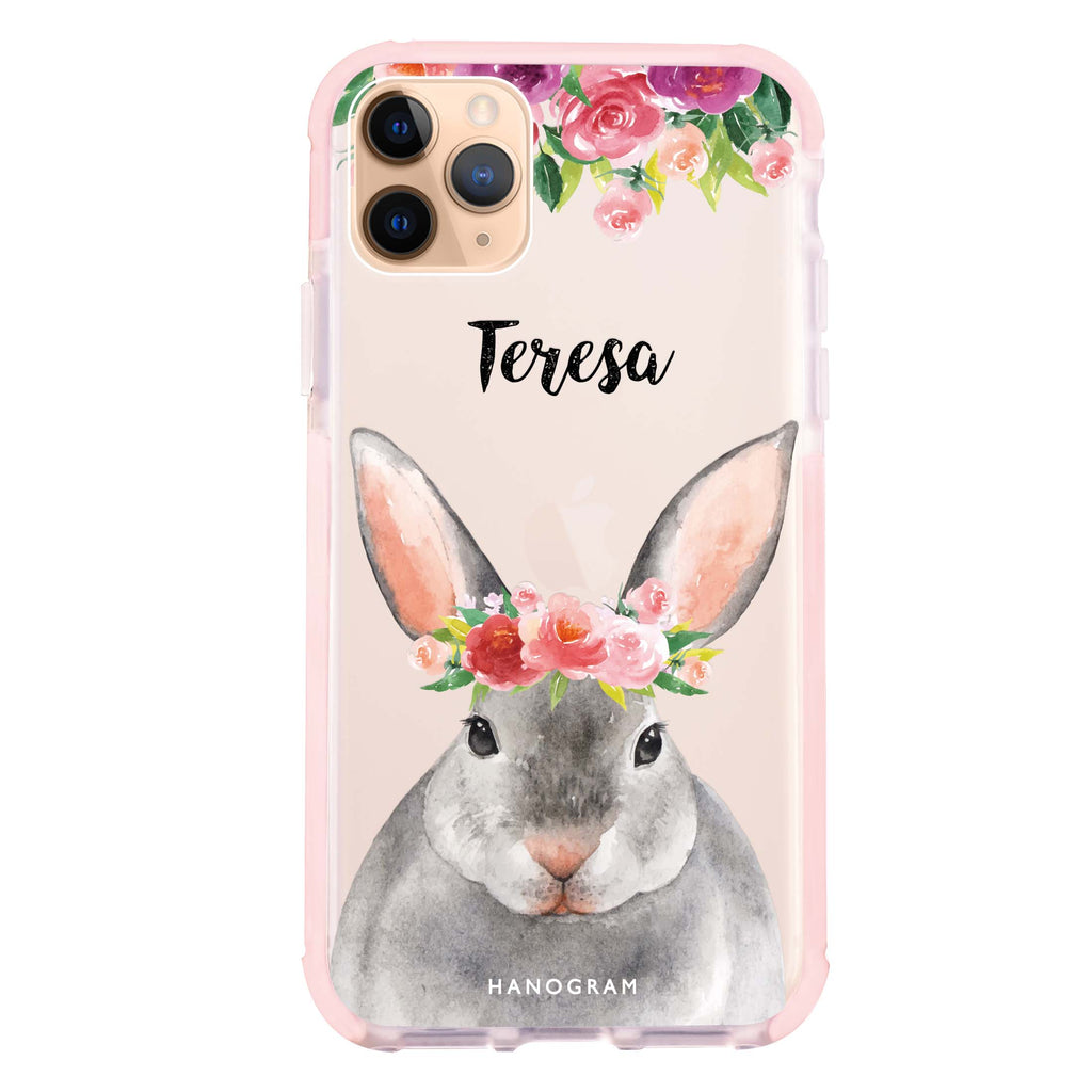 Floral and Bunny iPhone 11 Pro Max Shockproof Bumper Case