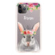 Floral and Bunny Frosted Bumper Case
