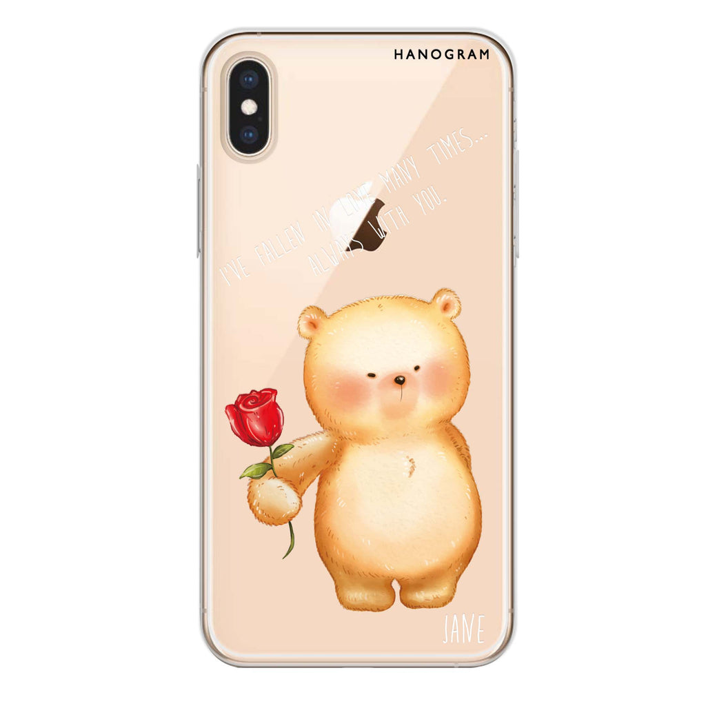 Rose For You iPhone XS Max Soft Clear Case