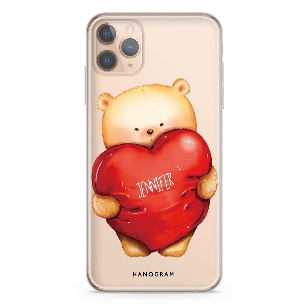Bear Hug iPhone 11 Pro Max Soft Clear Case