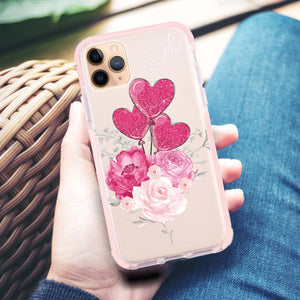 Sweet Heart With Rose Frosted Bumper Case