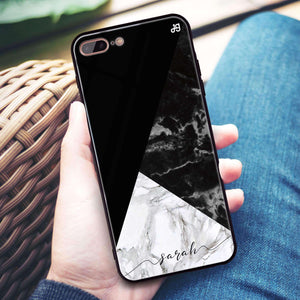 Black And White Marble iPhone 8 Plus Glass Case