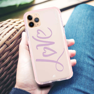 Love & Love Frosted Bumper Case