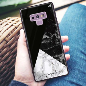 Black And White Marble Samsung Note 9 Glass Case