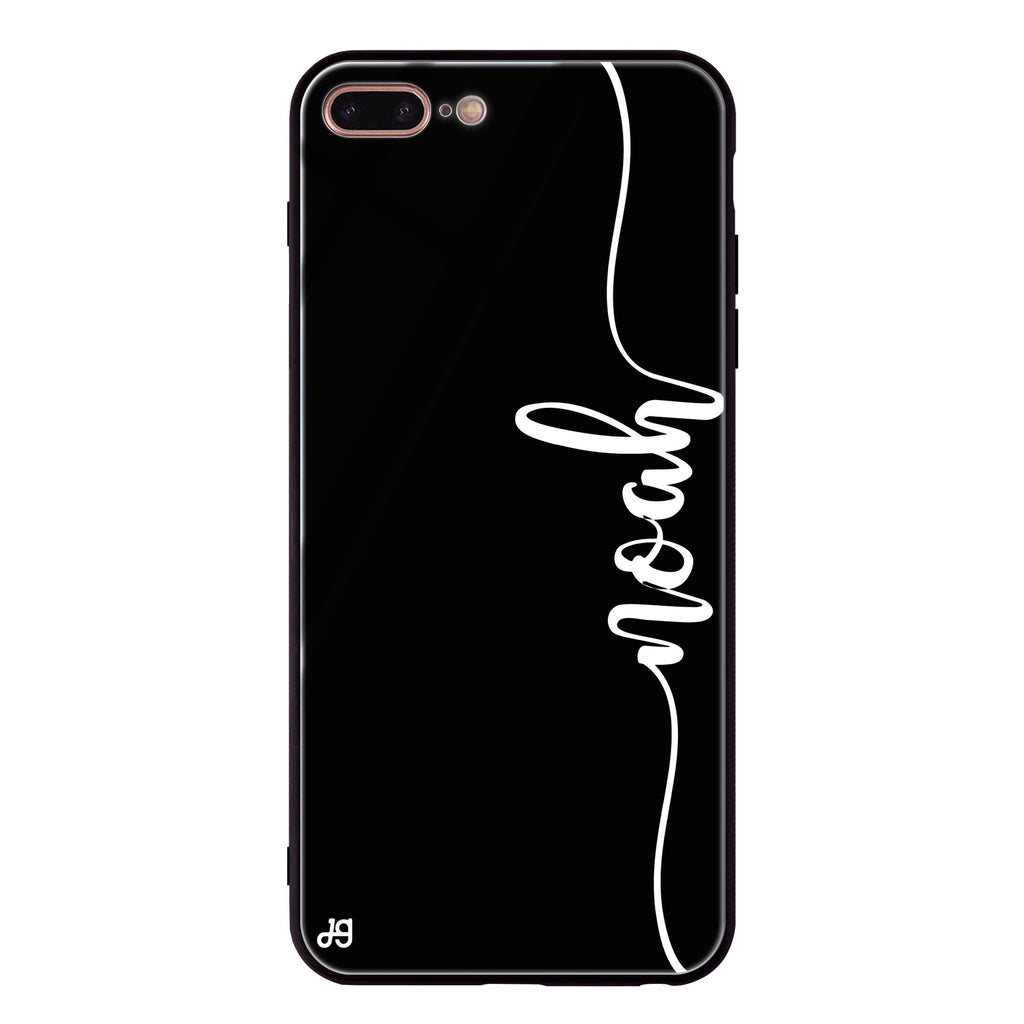 Vertical Script Handwritten iPhone 8 Plus Glass Case
