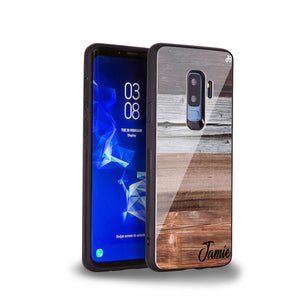 Wood Grain Varigegated Samsung S9 Plus Glass Case