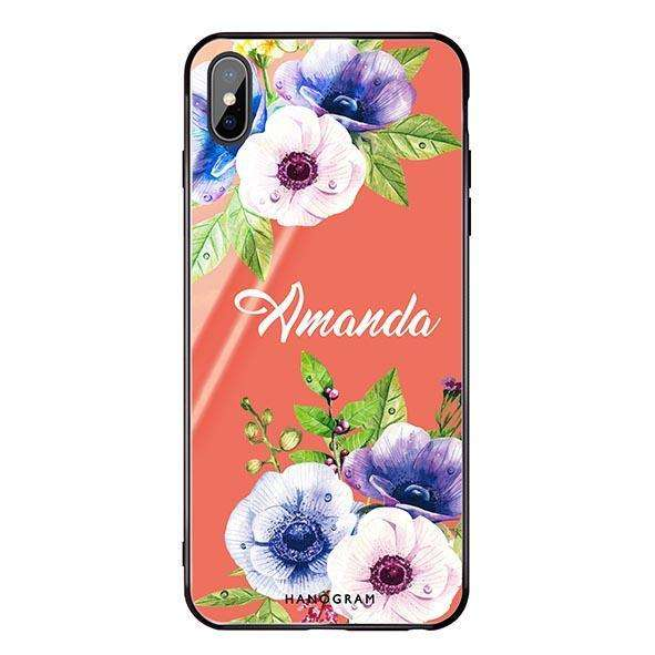 Blooming Flowers Living Coral Glass Case