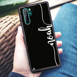 Vertical Script Handwritten Huawei Glass Case