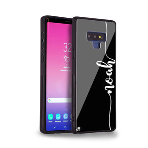 Vertical Script Handwritten Samsung Note 9 Glass Case