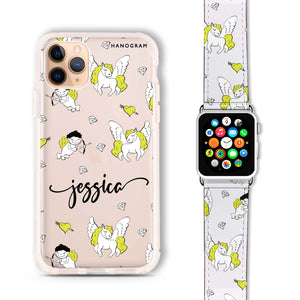 Angel & Unicorn - Frosted Bumper Case and Watch Band
