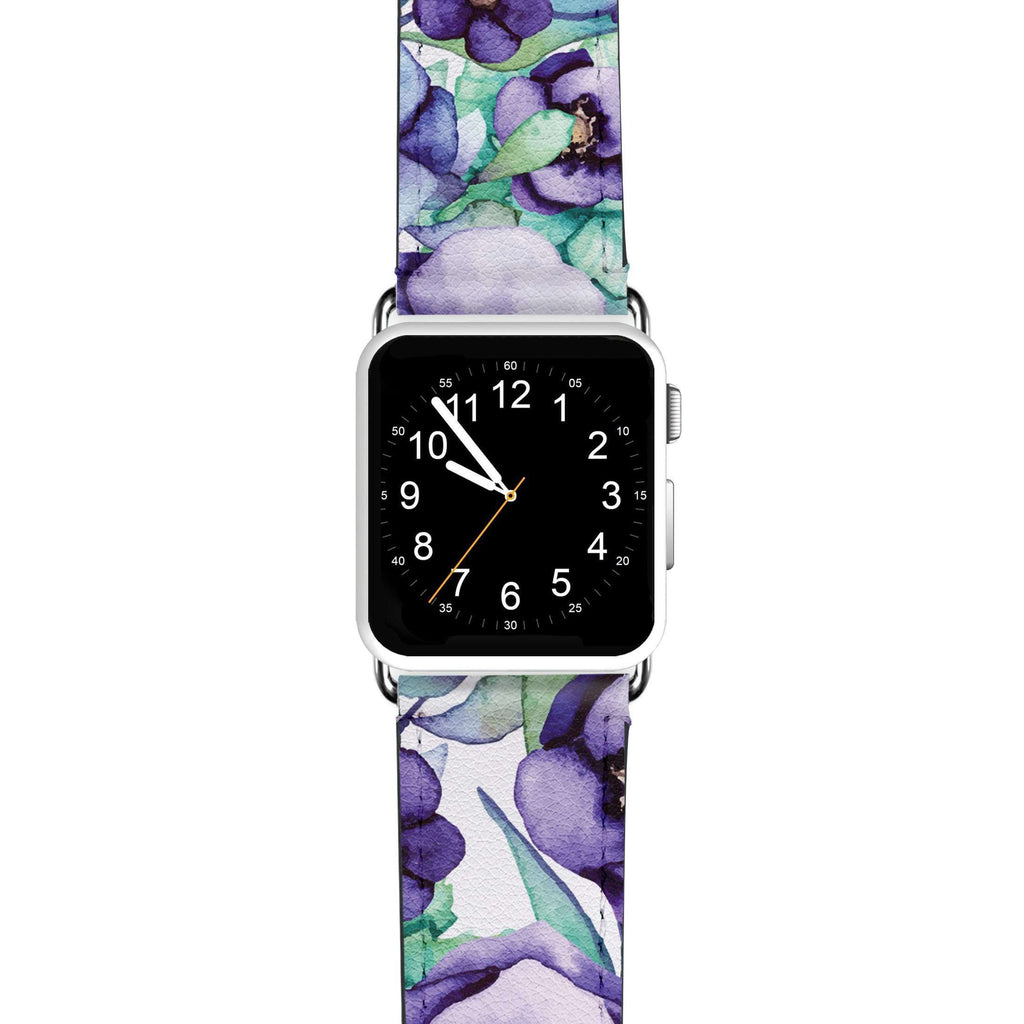 Purple Floral APPLE WATCH BANDS