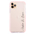 Handwritten You And Me Frosted Bumper Case