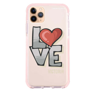 Cartoon Love Frosted Bumper Case