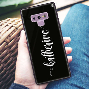 Bold Handwritten Samsung Note 9 Glass Case