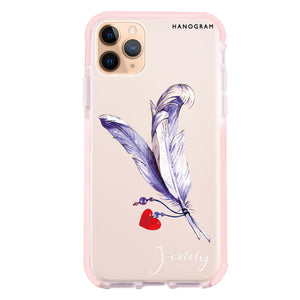 Feather Love Shockproof Bumper Case