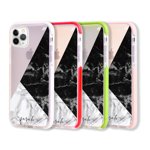 Black And White Marble Frosted Bumper Case