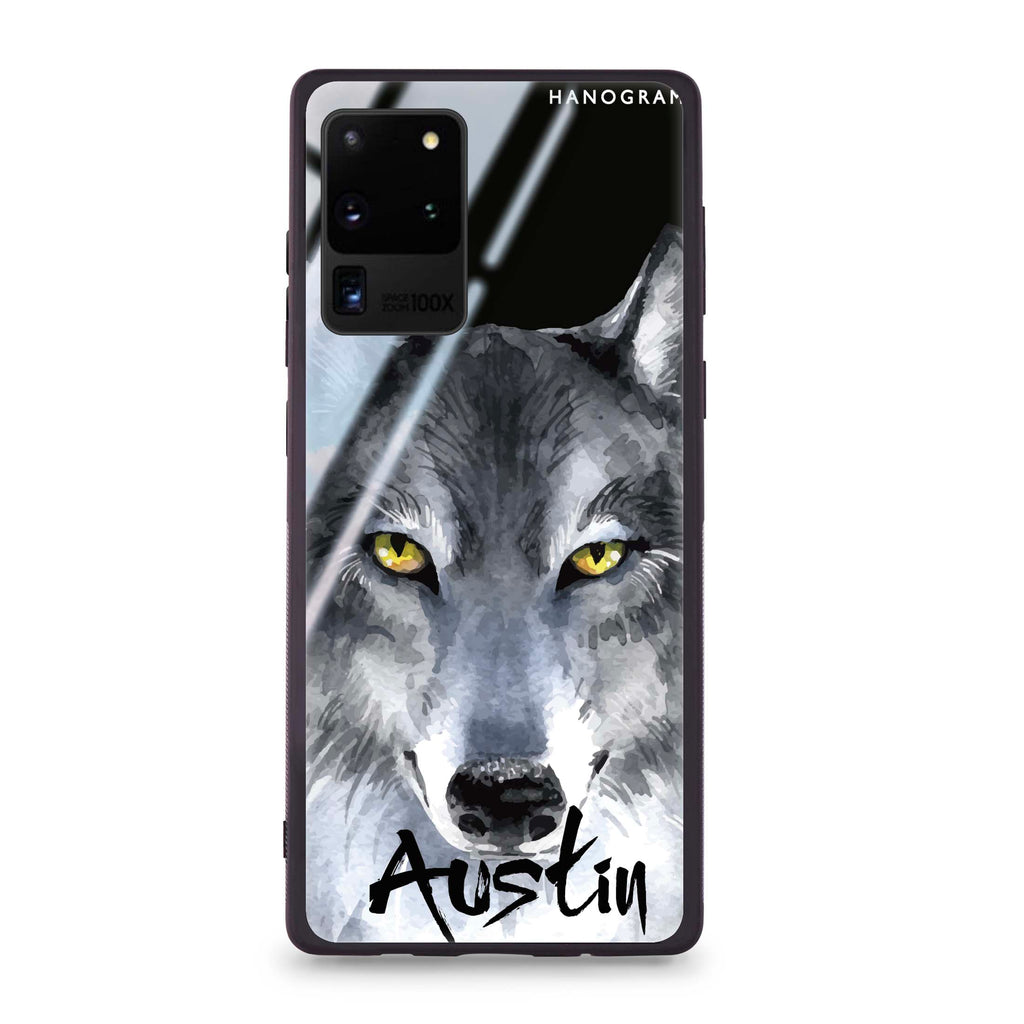 Snow Wolf Samsung S20 Ultra Glass Case