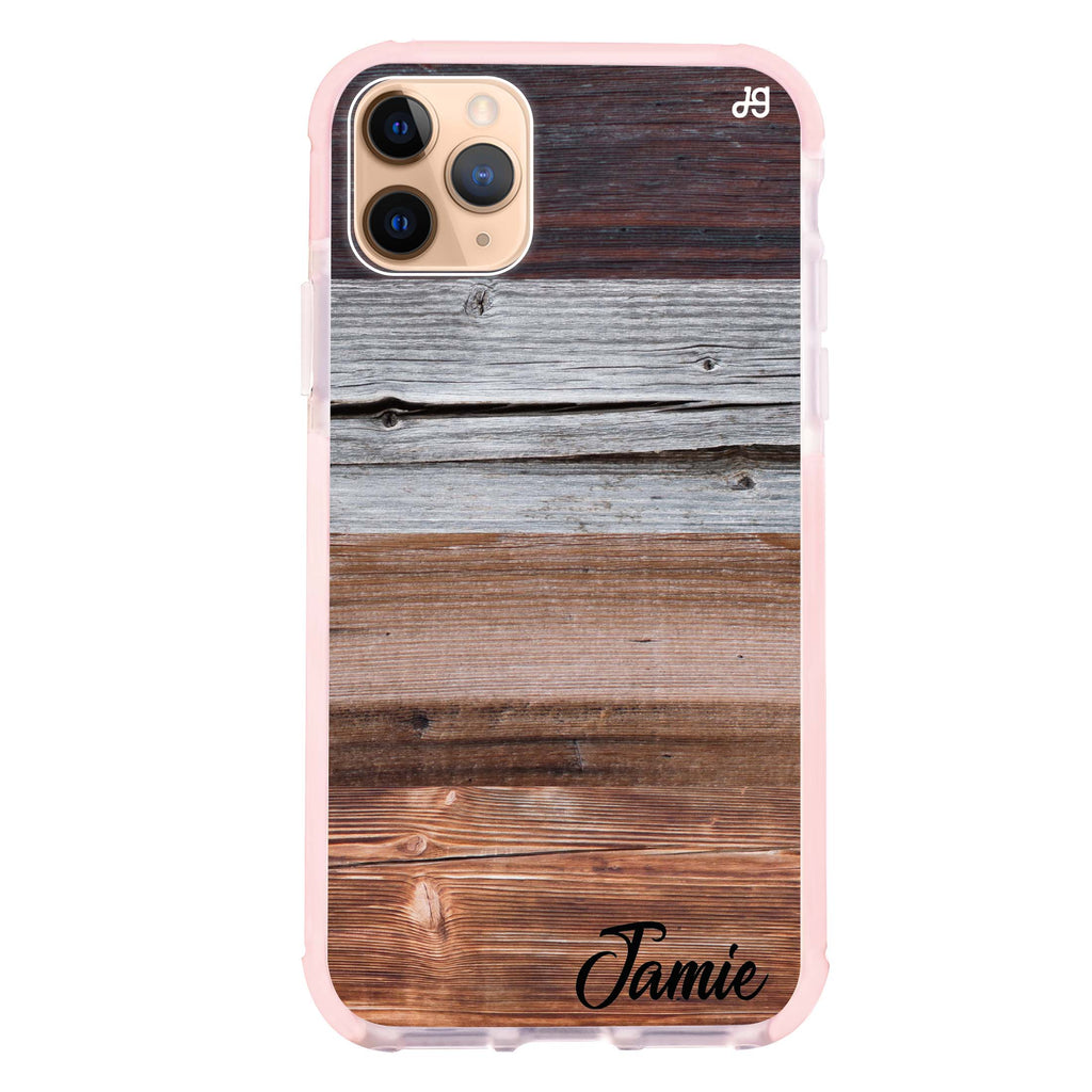 Wood Grain Varigegated iPhone 11 Pro Max Shockproof Bumper Case