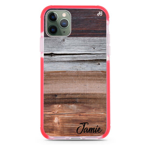 Wood Grain Varigegated Frosted Bumper Case