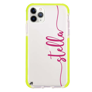 Vertical Script Handwritten Custom Frosted Bumper Case
