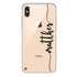 Vertical Script Handwritten Custom iPhone XS Soft Case