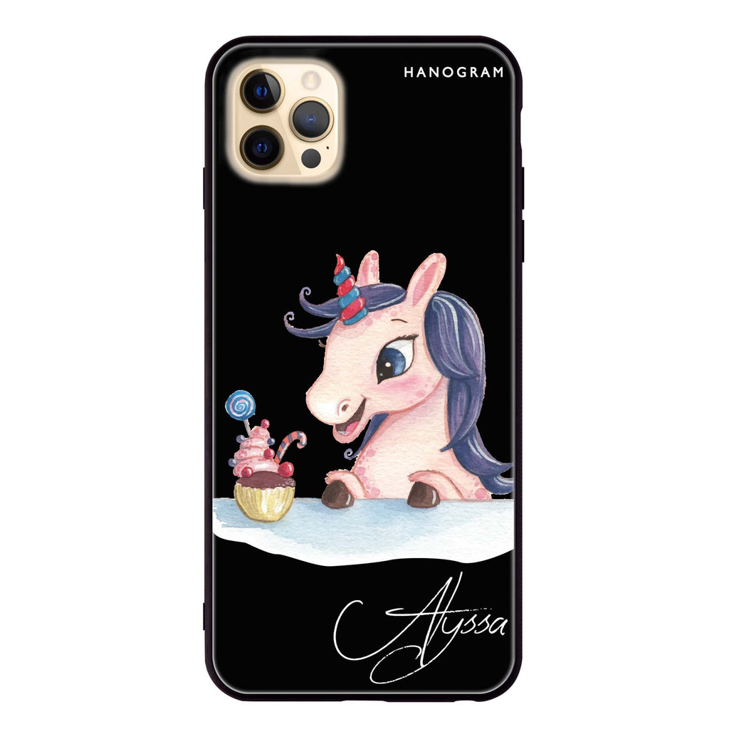 Rainbow Unicorn And Cupcake Glass Case