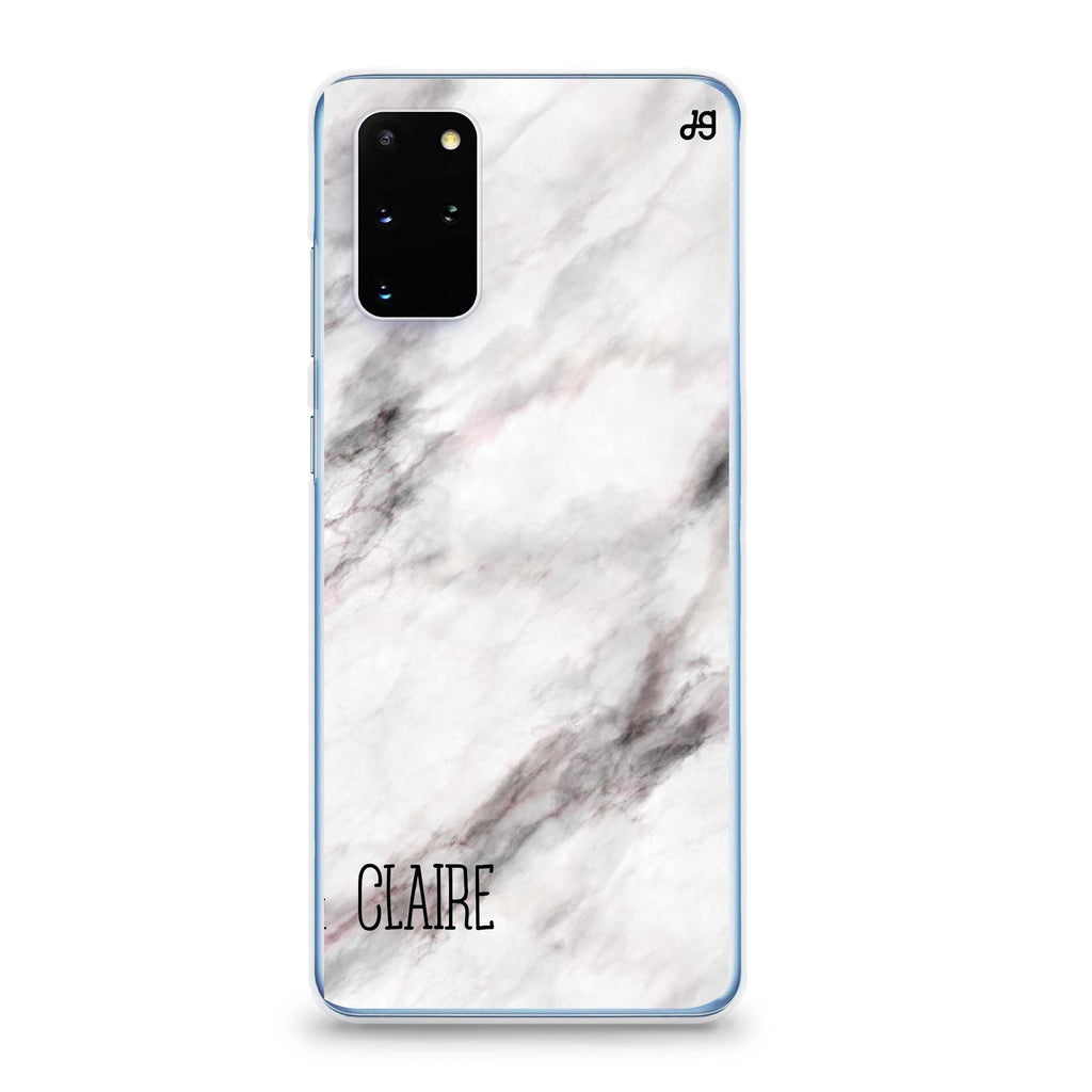 White Marble Samsung S20 Soft Clear Case