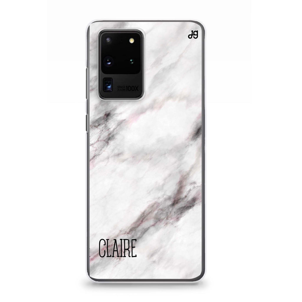 White Marble Samsung S20 Ultra Soft Clear Case