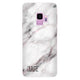 White Marble Samsung S9 Soft Clear Case
