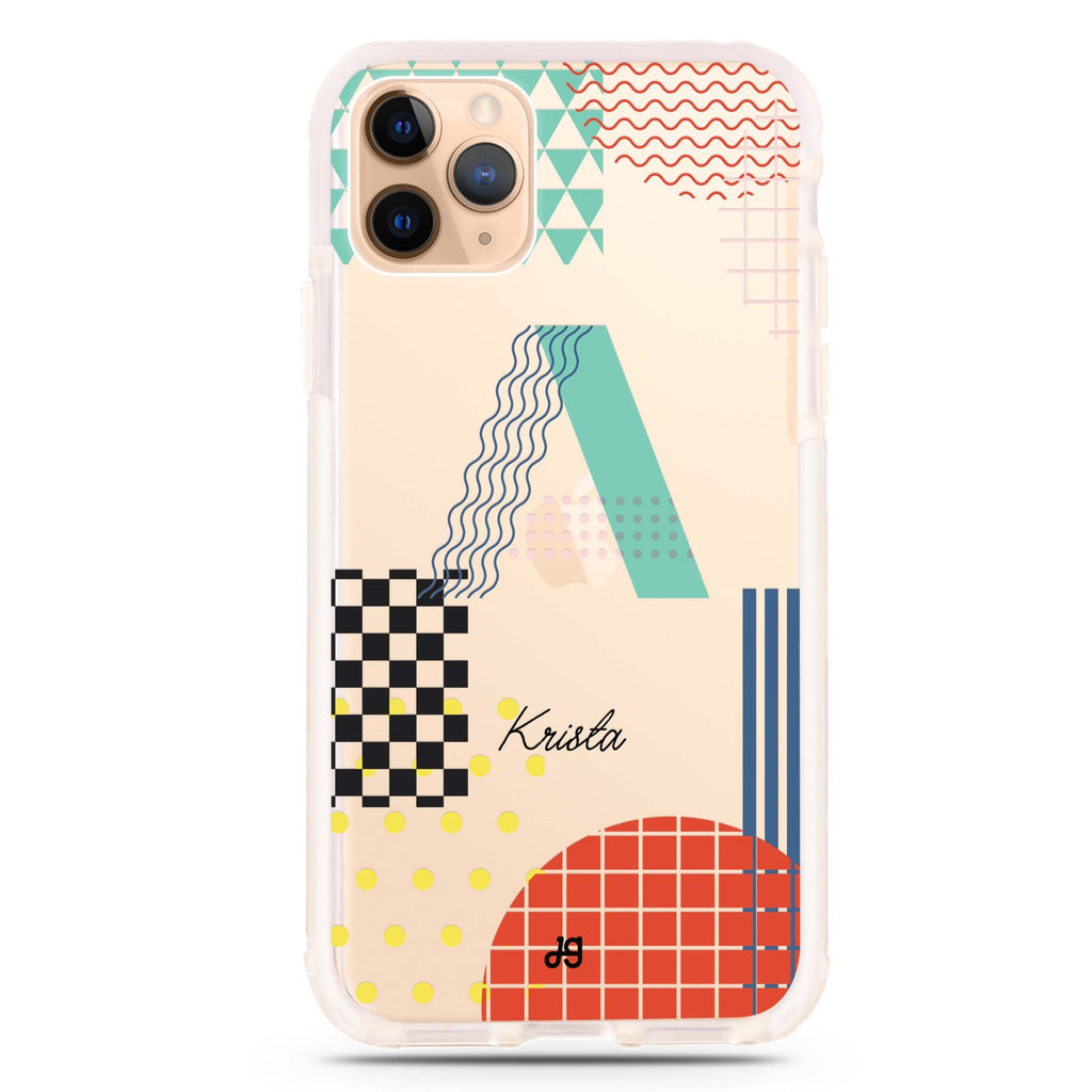 Memphis Monogram Shockproof Bumper Case