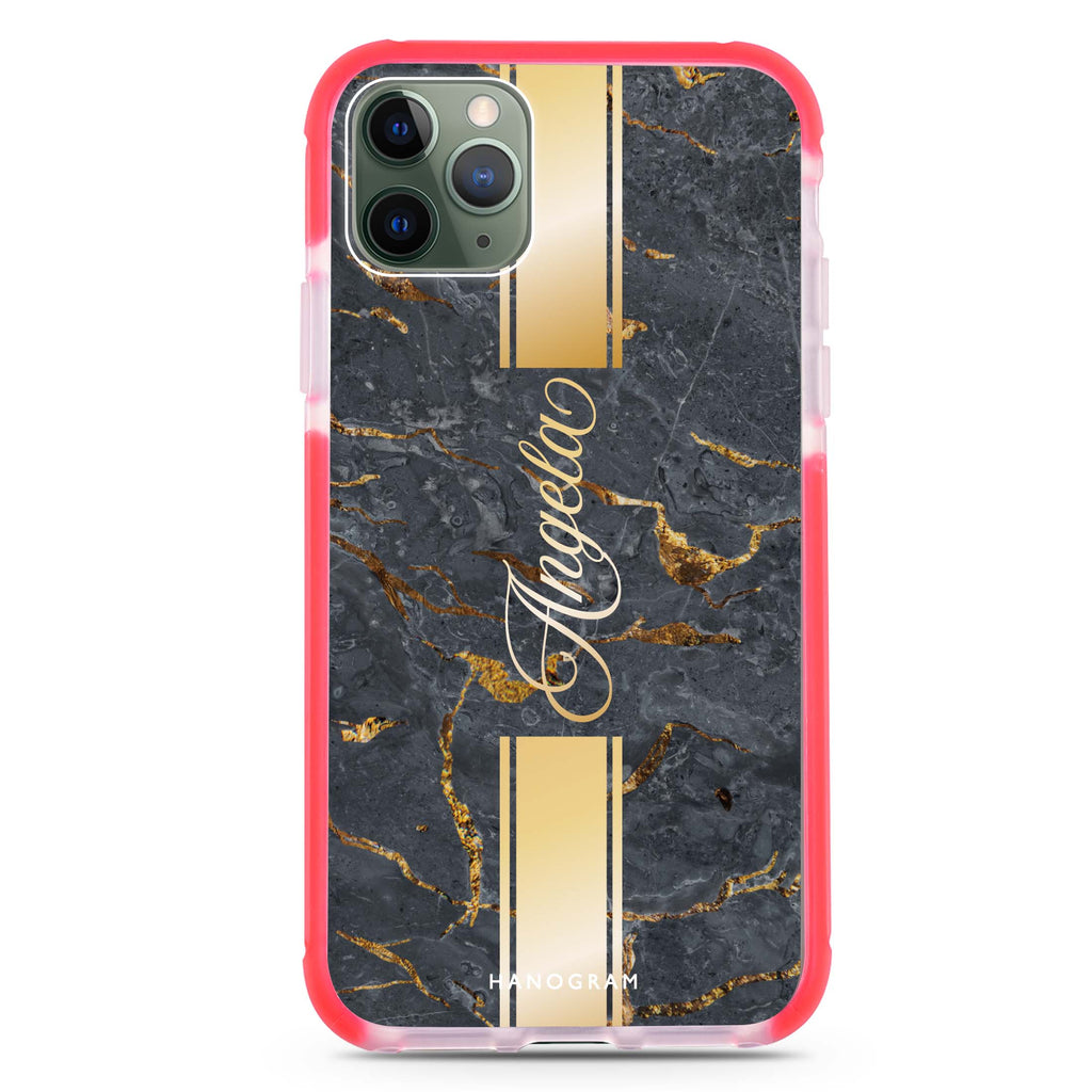 Luxury Gold Marble Shockproof Bumper Case