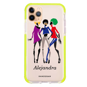 Artistic Girls iPhone 11 Pro Max Frosted Bumper Case