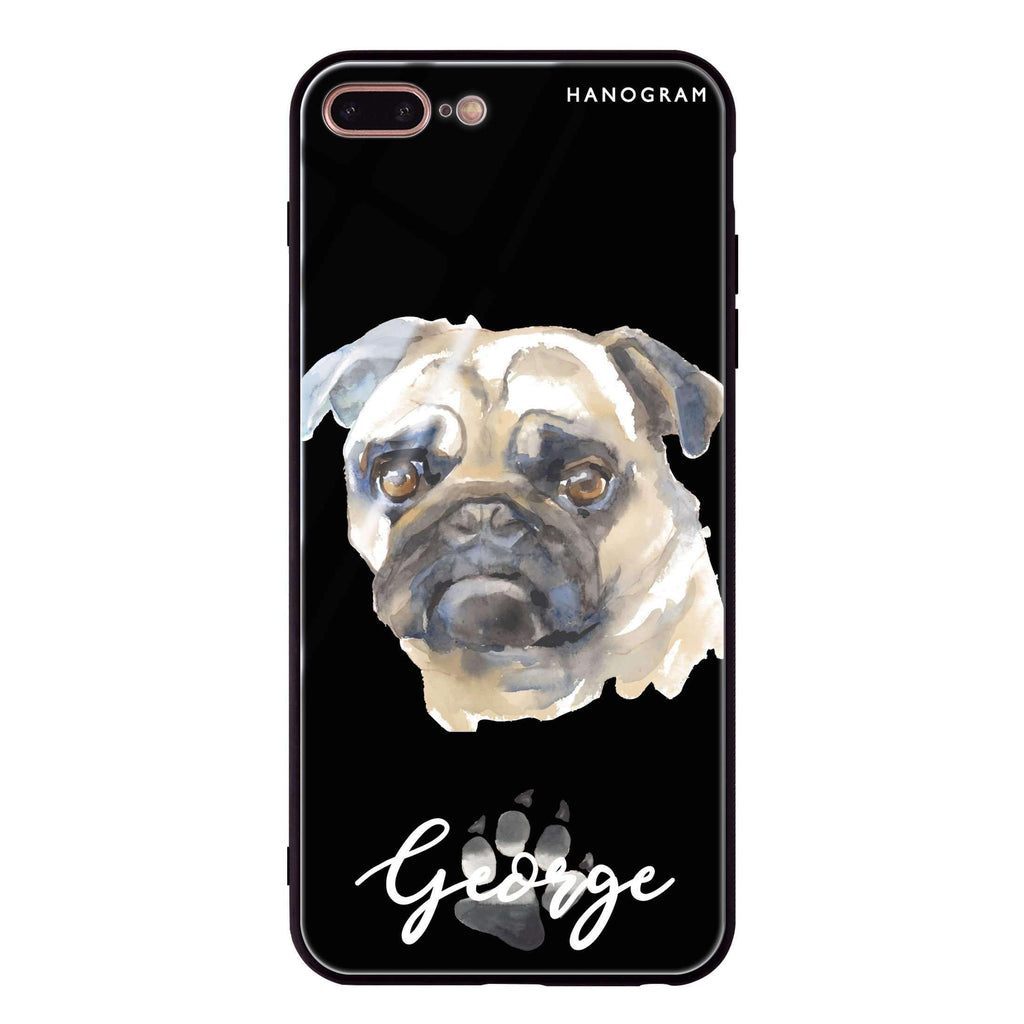 Pug iPhone 8 Plus Glass Case