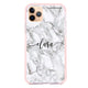 Powder Gray And White Marble Shockproof Bumper Case