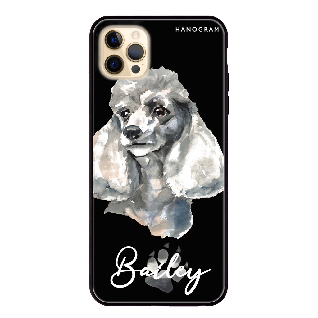 Poodle Glass Case