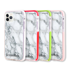Powder Gray And White Marble II Frosted Bumper Case