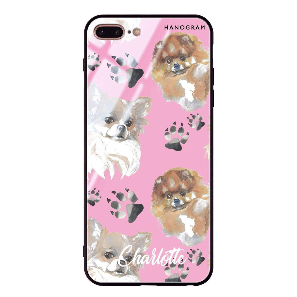 Pompom & Chihuahua iPhone 8 Plus Glass Case